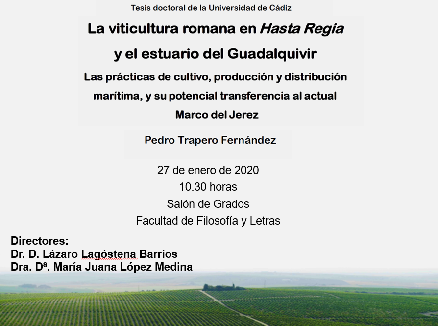 Tesis doctoral: La viticultura en Hasta Regia y el estuario del Guadalquivir